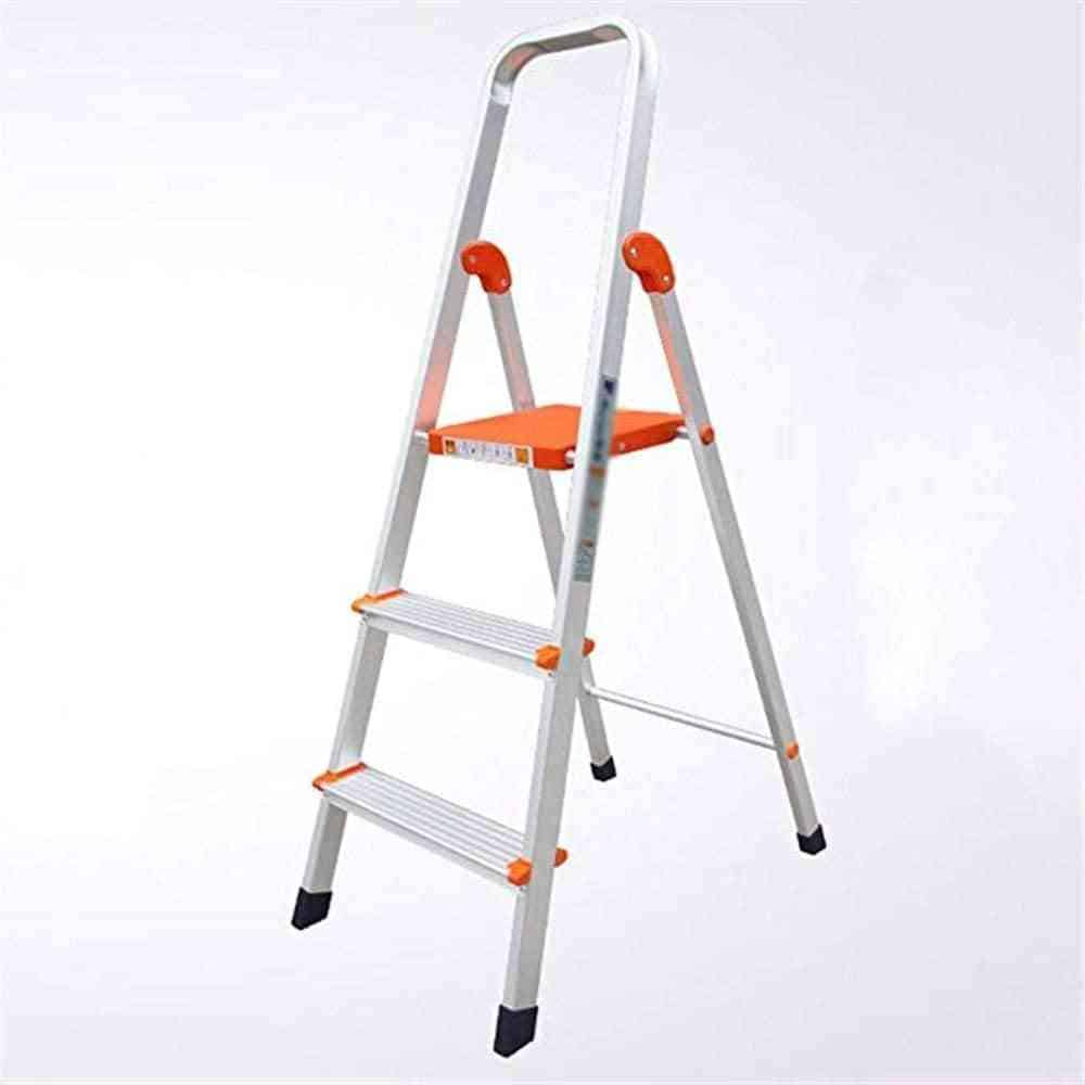 4-Step Stool Ladder Portable Folding Anti-Slip with Rubber Hand Grip