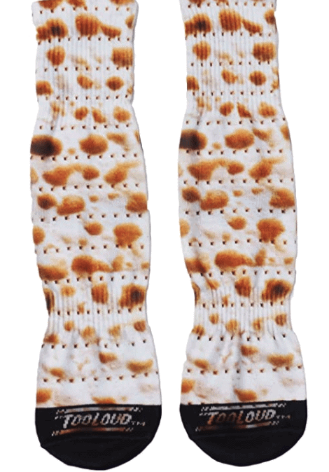 TooLoud Matzo Adult Crew Socks