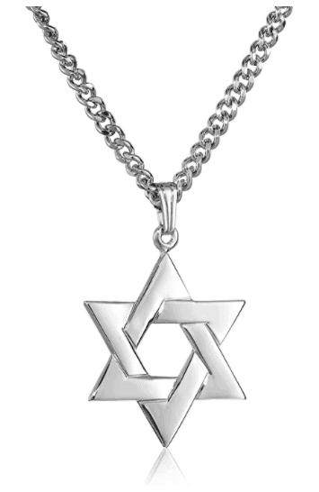 Men's Sterling Silver Star of David Pendant